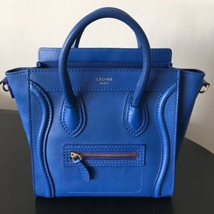 Authentic Pre Owned Celine Nano Luggage in Blue